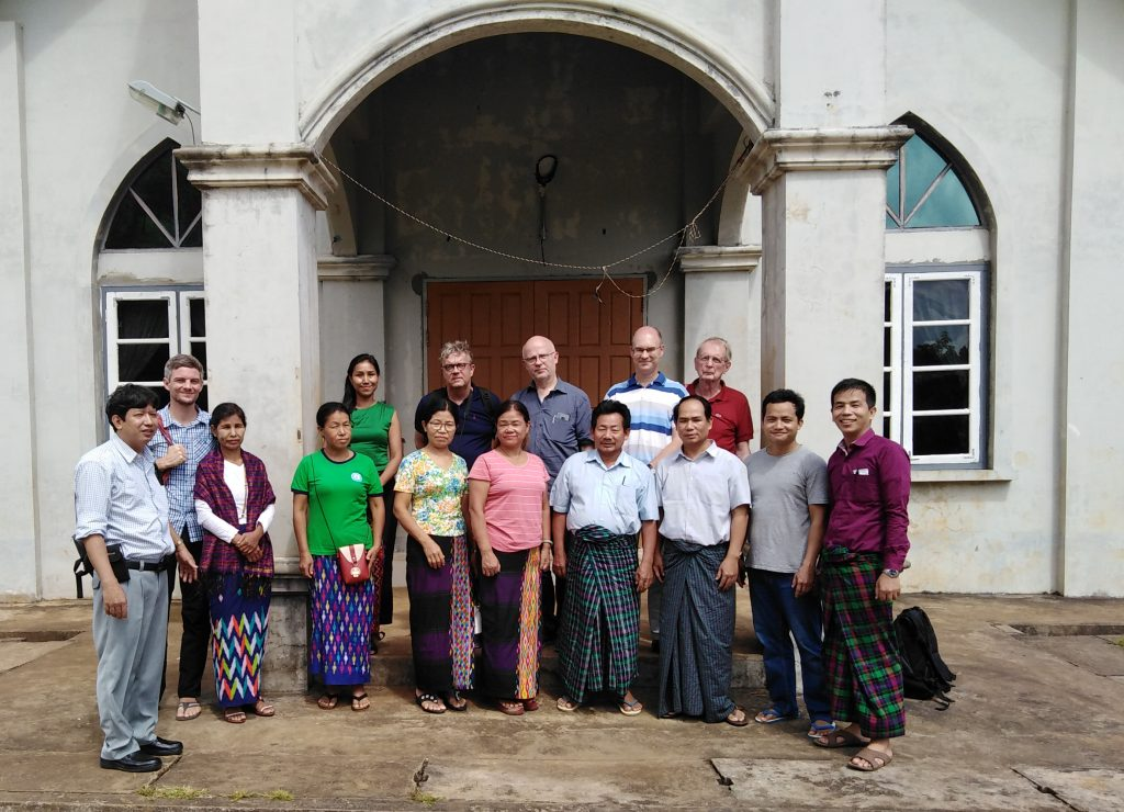 Kachin and EMW members at a church in an IDP (Internally Displaces People) Camp